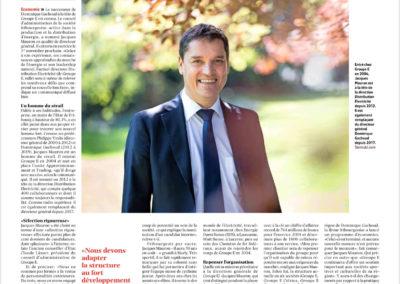 Portrait du Directeur général de Groupe E, Jacques Mauron par STEMUTZ dans la Liberté