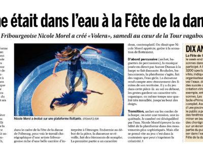 Publication d'image de Nicole Morel, fête de la Danse dans La Liberté, 12.05.2015