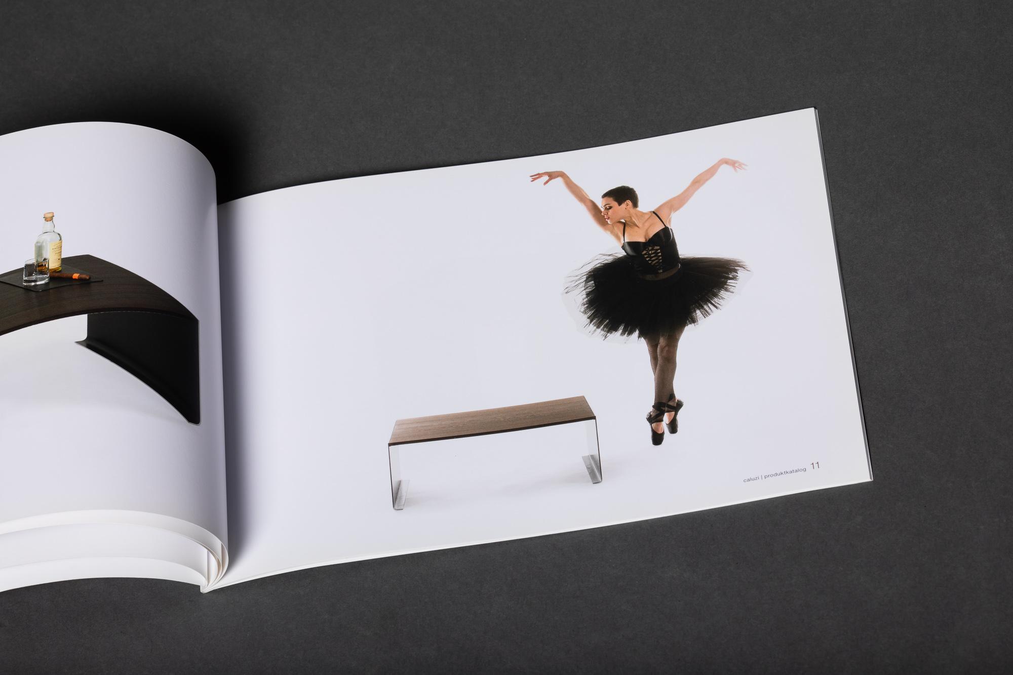 Caluzi Brochure feat. Nina Burri Publications by STEMUTZ