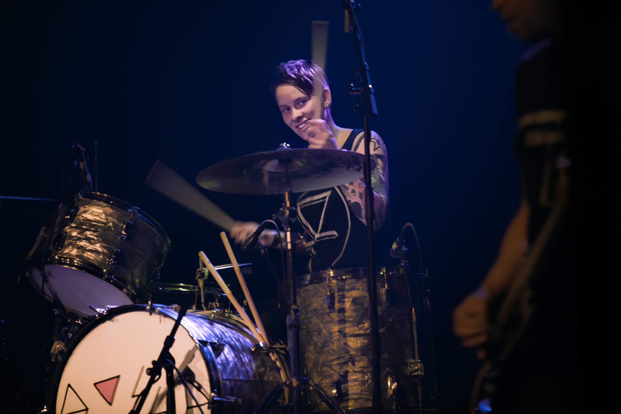Drummer Hannah Blilie ... The Gossip (US) @ Fri-Son, Fribourg, S