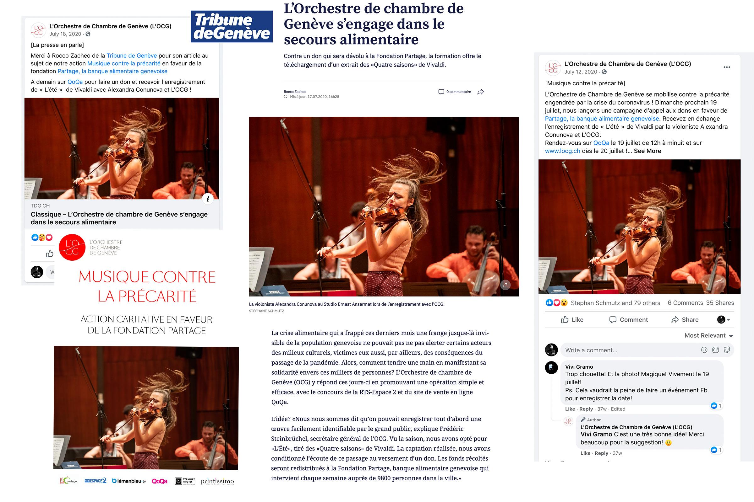 Publications, Presse, Médias sociaux,L'OCG avec Alexandra Conunova by STEMUTZ, Studio Ansermet, 01.07.2020